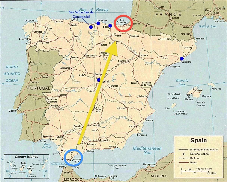 SAN SEBASTIAN SPAIN MAP   Imsa Kolese